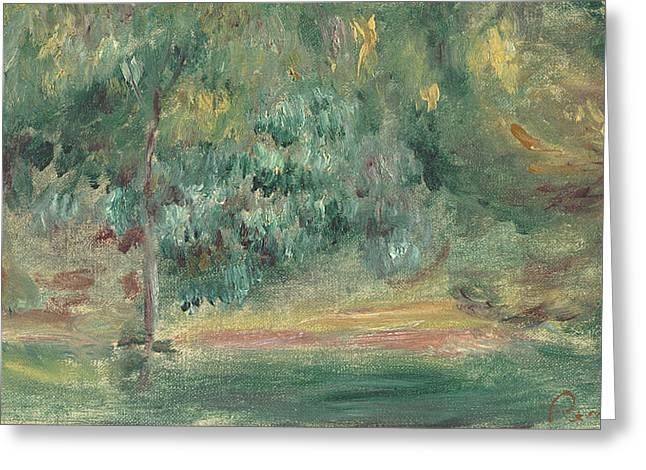 Blur Paintings Greeting Cards - Paysage Greeting Card by Pierre Auguste Renoir
