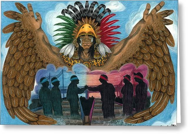 Paz Greeting Card by Roberto Valdes Sanchez