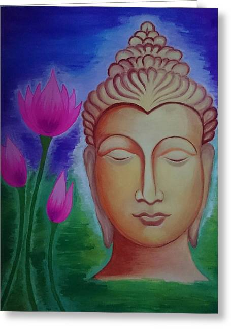 Normal Paintings Greeting Cards - Peace Greeting Card by Aakash Pawar