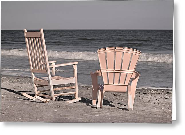 Rocking Chairs Greeting Cards - Peace and Purpose Greeting Card by Betsy C  Knapp