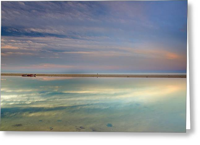 Peace At The Seasunset Greeting Card by Guido Montanes Castillo