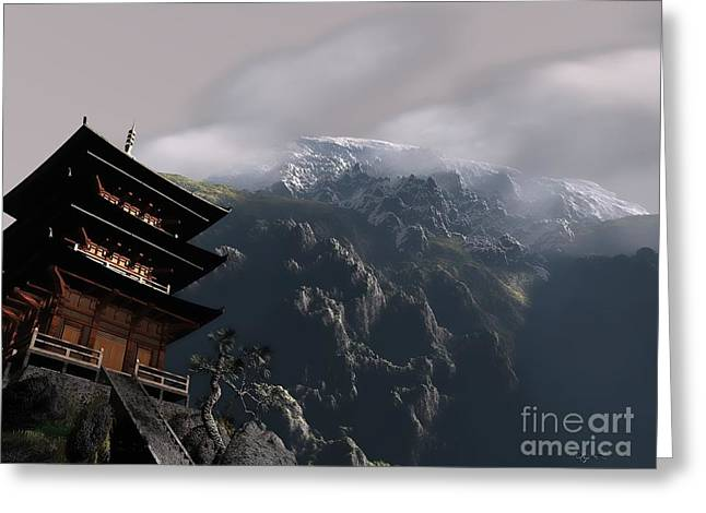 Mountains Sculptures Greeting Cards - Peace Greeting Card by Dave Luebbert