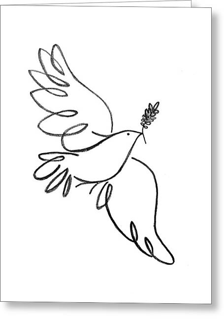 Peace Dove Greeting Card by Jenni Robison