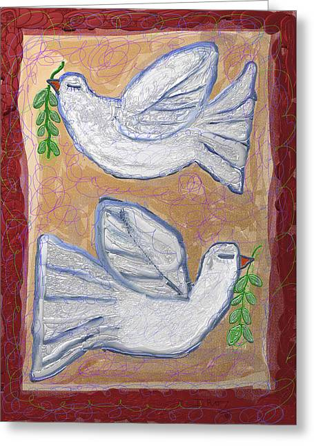 Simchat Torah Greeting Cards - Peace Doves Greeting Card by Ian Roz