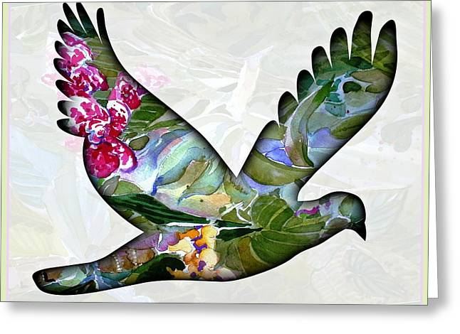 Flying Orchid Greeting Cards - Peace for Peace Greeting Card by Mindy Newman