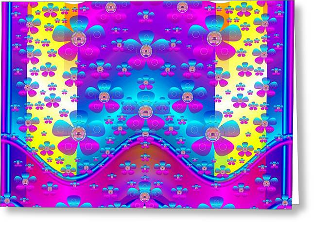 Peace In Rainbow Country Greeting Card by Pepita Selles