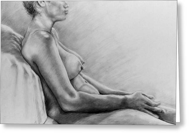 Nude Greeting Cards - Peace Greeting Card by John Clum