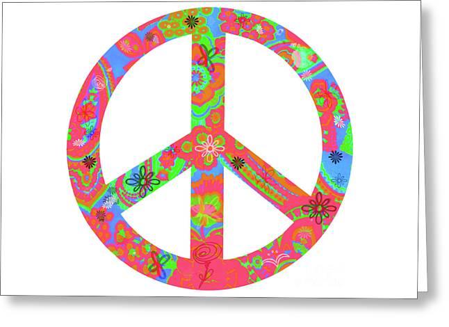 Peace Greeting Card by Linda Lees