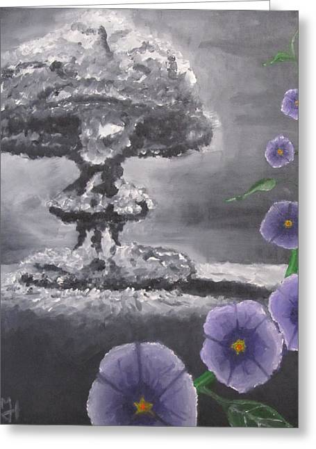 Flower Bombs Greeting Cards - Peace Greeting Card by Michael Holmes