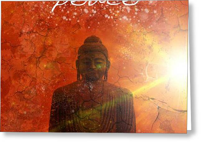 Siddharta Greeting Cards - Peace Greeting Card by Michelle Foster