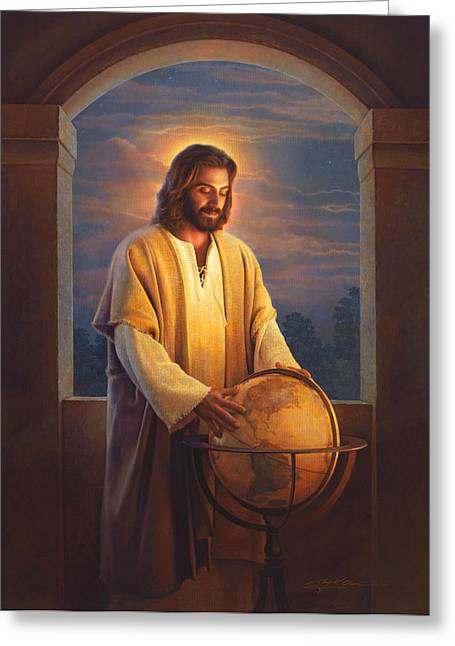 Jesus Christ Paintings Greeting Cards - Peace on Earth Greeting Card by Greg Olsen