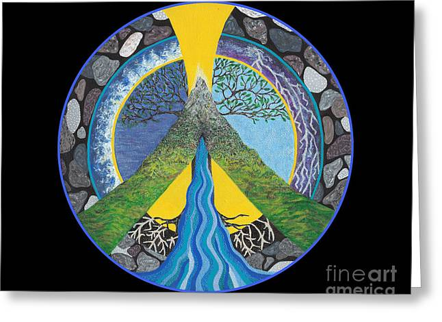 Peace Sign Greeting Cards - Peace Portal Greeting Card by Tree Whisper Art - DLynneS