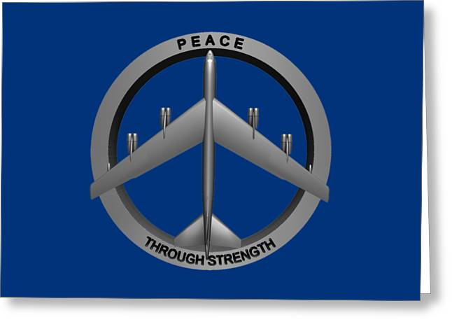 Strength Sculptures Greeting Cards - Peace Through Strength Greeting Card by Dave Luebbert
