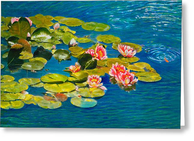 Impressionistic Realism Greeting Cards - Peaceful Belonging Greeting Card by Michael Durst