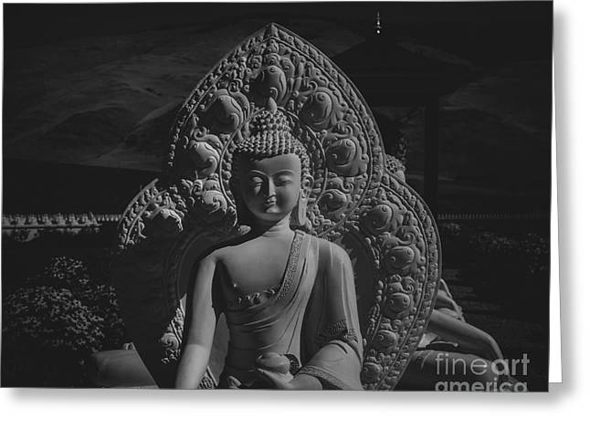 Religion Greeting Cards - Peaceful Buddha  Greeting Card by Jamie Tipton