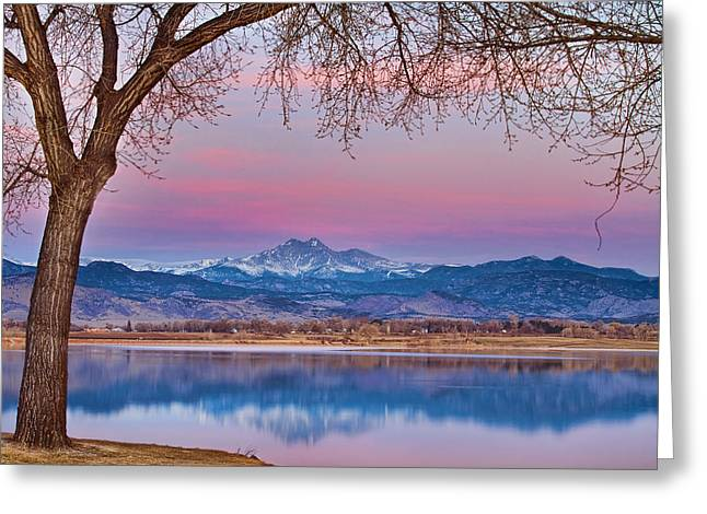 Peaceful Early Morning First Light Longs Peak View Greeting Card by James BO  Insogna