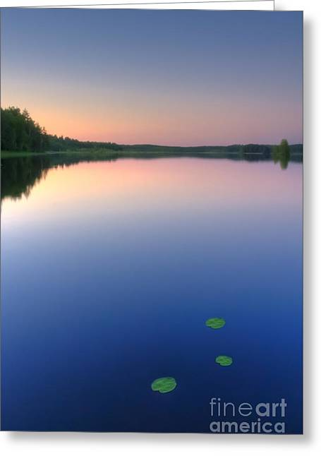 Peaceful Evening Greeting Card by Veikko Suikkanen