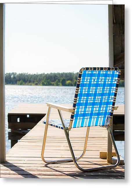 Lawn Chair Greeting Cards - Peaceful Light Greeting Card by Shelby  Young