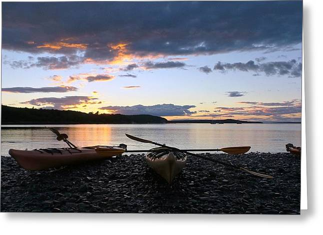 Coastal Maine Greeting Cards - Peaceful Moments at Bar Harbor Greeting Card by Mike Breau