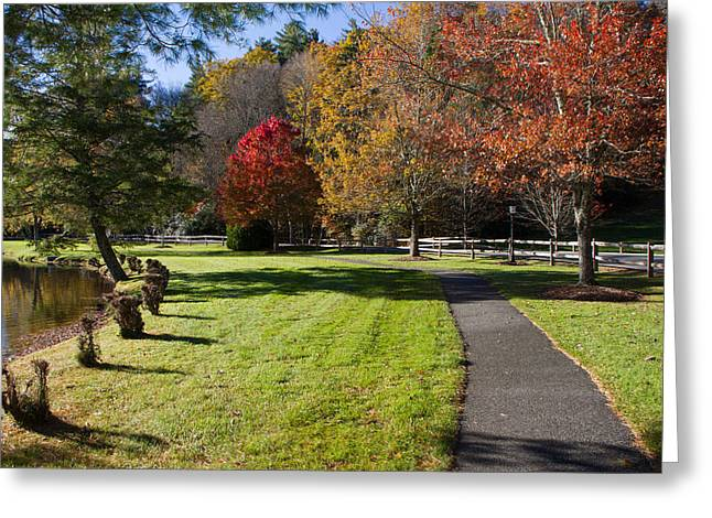 Jogging Greeting Cards - Peaceful path Greeting Card by Dr Arnold Hence