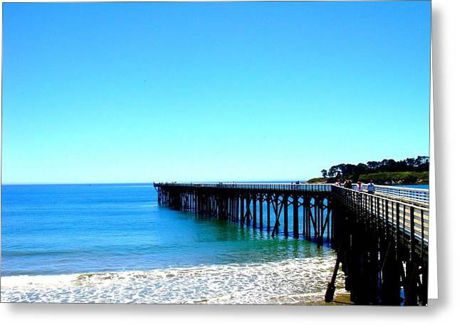 Cambria Digital Greeting Cards - Peaceful Pier Greeting Card by Melissa KarVal