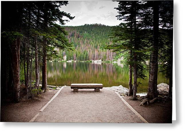 Park Benches Greeting Cards - Peaceful place Greeting Card by Patrick  Flynn