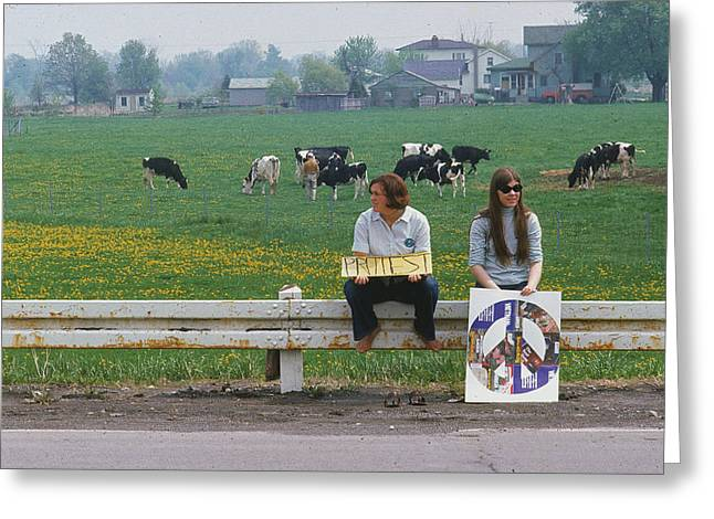 New Greeting Cards - Peaceful Protesters Greeting Card by Erik Falkensteen