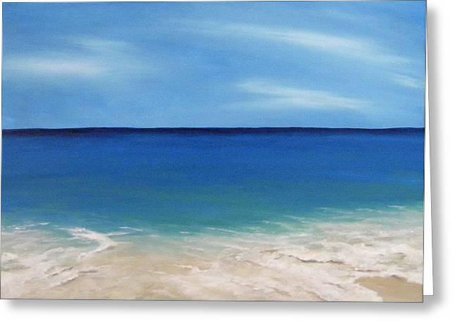 Peaceful Sands Greeting Card by JoAnn Wheeler
