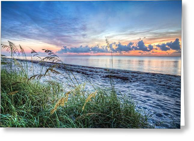 Decorate Greeting Cards - Peaceful Seas Greeting Card by Debra and Dave Vanderlaan