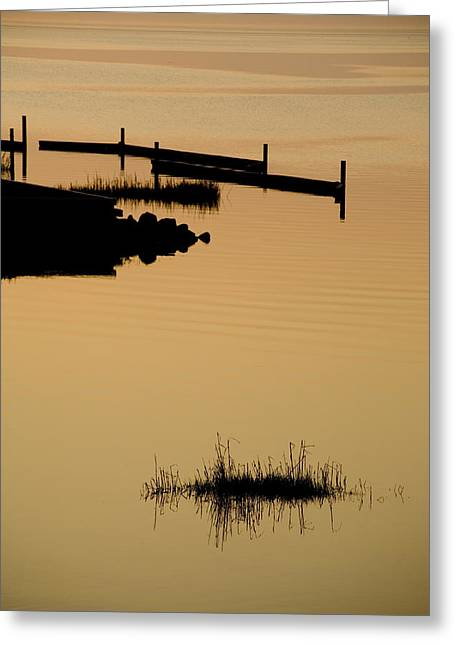 Reflection.etc Greeting Cards - Peaceful Silhouettes Greeting Card by Stephen St. John