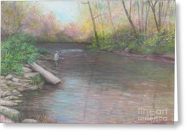 Gift For Pastels Greeting Cards - Peaceful Solitude  Greeting Card by Penny Neimiller