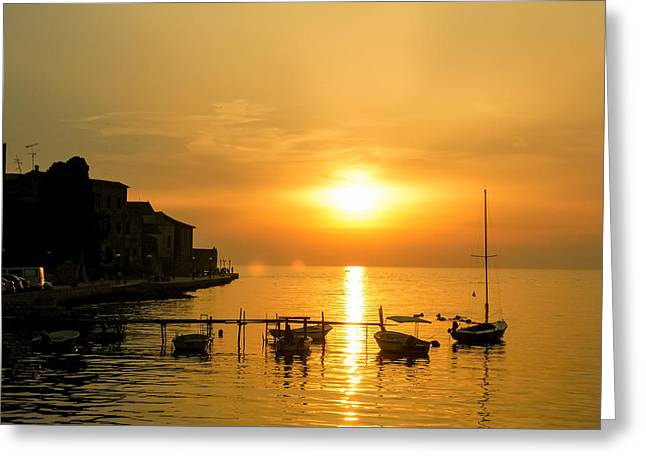 Romantico Greeting Cards - Peaceful sunset Greeting Card by Paloma Trujillo