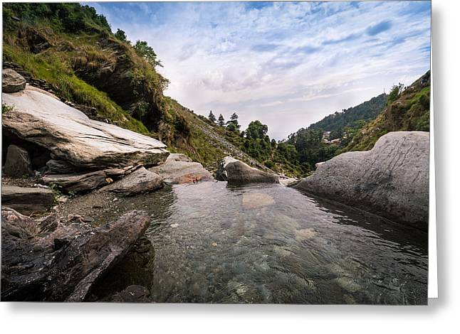 Stream Greeting Cards - Peaceful Greeting Card by V Naveen  Kumar