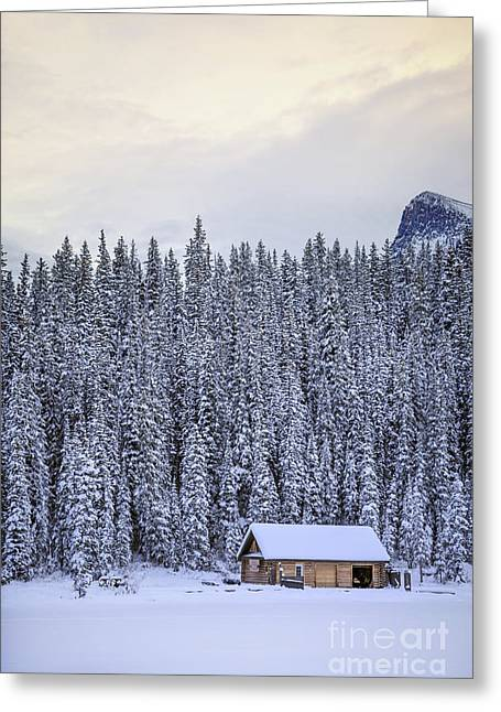 Alberta Rocky Mountains Greeting Cards - Peaceful Widerness Greeting Card by Evelina Kremsdorf