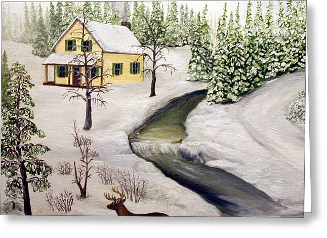 Peaceful Winter Day Greeting Card by Timothy Smith