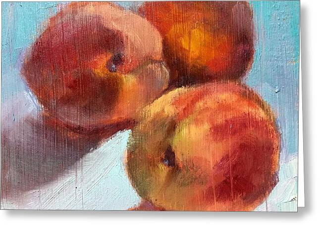 Donna Shortt Greeting Cards - Peach Bliss Greeting Card by Donna Shortt