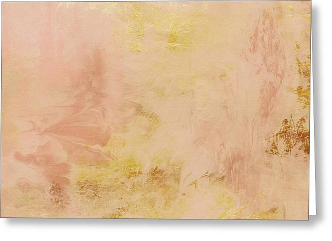 Peach Harvest- Abstract Art By Linda Woods. Greeting Card by Linda Woods