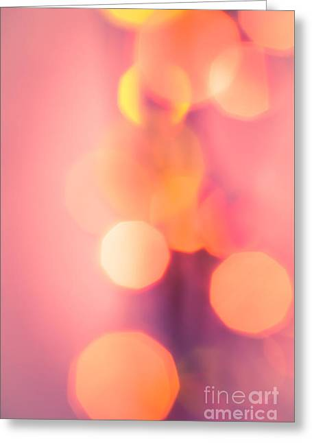 Vivid Colour Greeting Cards - Peach Melba Greeting Card by Jan Bickerton
