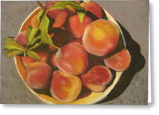 Peaches Pastels Greeting Cards - Peaches Greeting Card by Constance Gehring