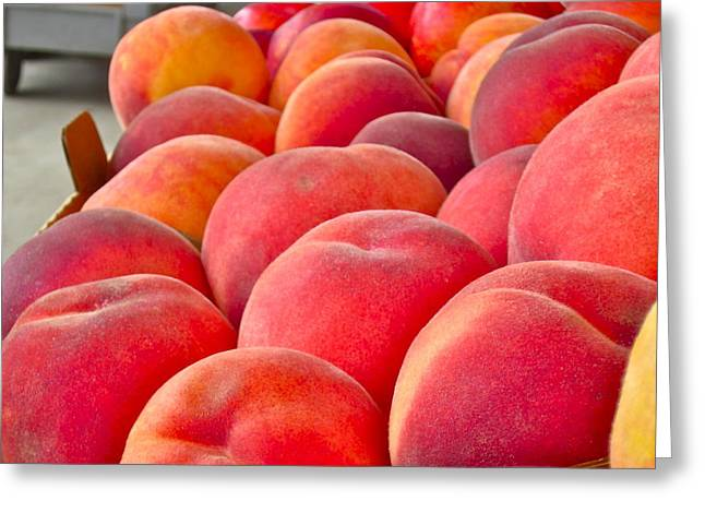 Peaches For Sale Greeting Card by Gwyn Newcombe