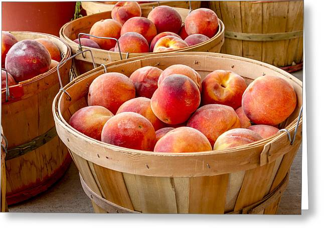 Peaches For Sale Greeting Card by Teri Virbickis
