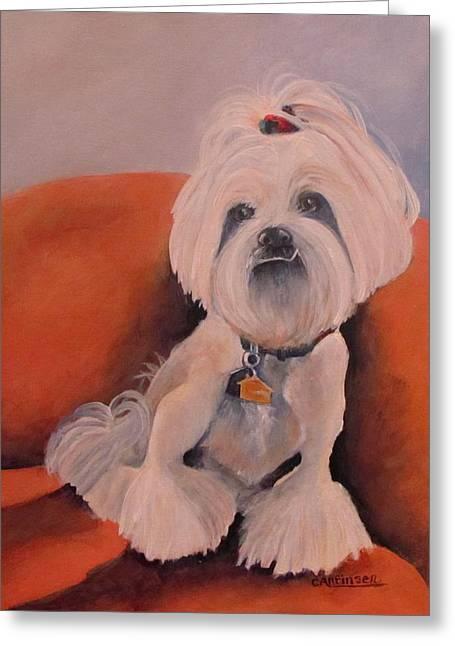 Peaches 'n Cream Greeting Card by Carol Allen Anfinsen