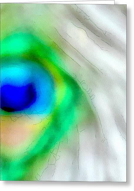 Illusions Greeting Card by Krissy Katsimbras