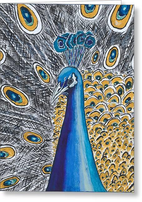 Ken Greeting Cards - Peacock Greeting Card by Ken Nganga