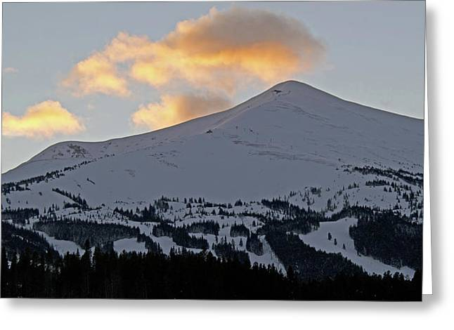 Peak 8 at dusk - Breckenridge Colorado Greeting Card by Brendan Reals
