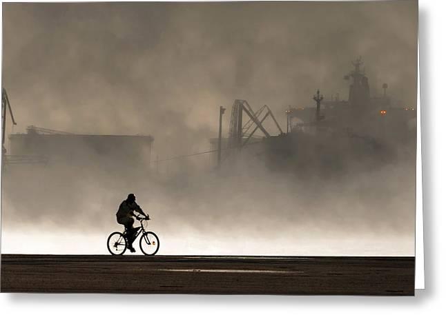 Peak Oil Greeting Card by Michel Guyot