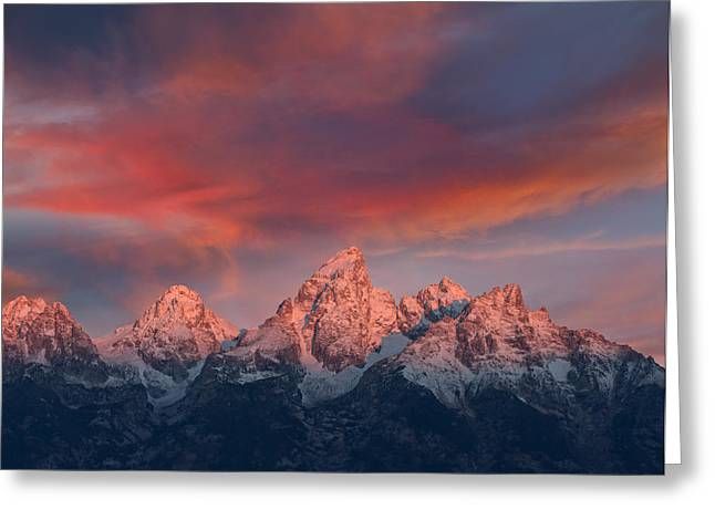 Bishops Peak Greeting Cards - Peak Sunrise Greeting Card by Kathleen Bishop