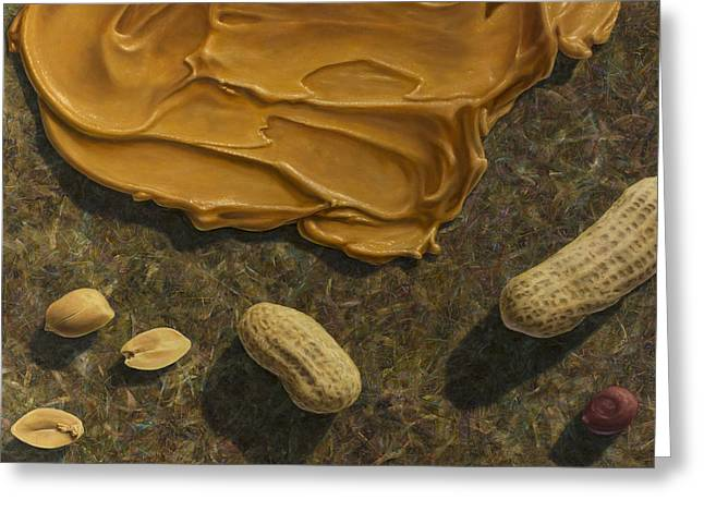 Famous Greeting Cards - Peanut Butter and Peanuts Greeting Card by James W Johnson