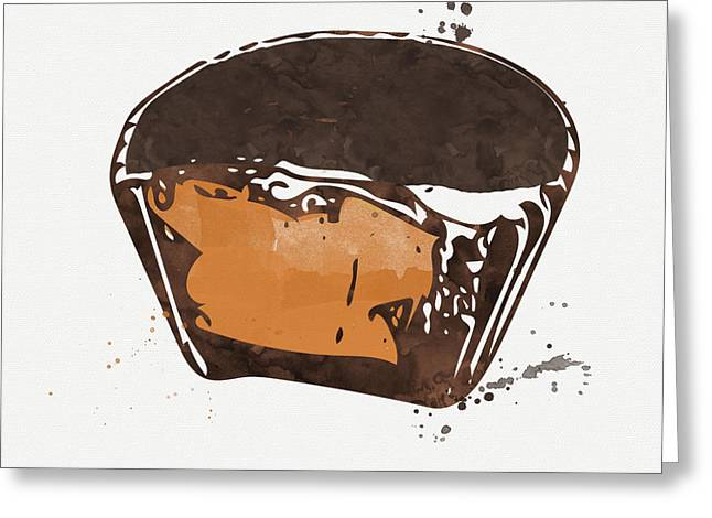 Treat Greeting Cards - Peanut Butter Cup Greeting Card by Linda Woods