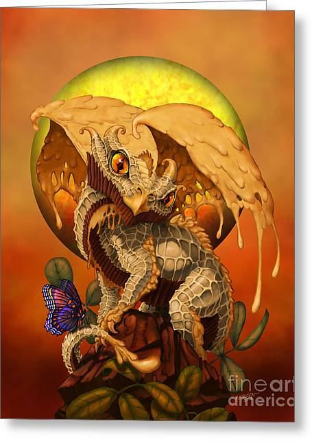 Peanut Butter Dragon Greeting Card by Stanley Morrison